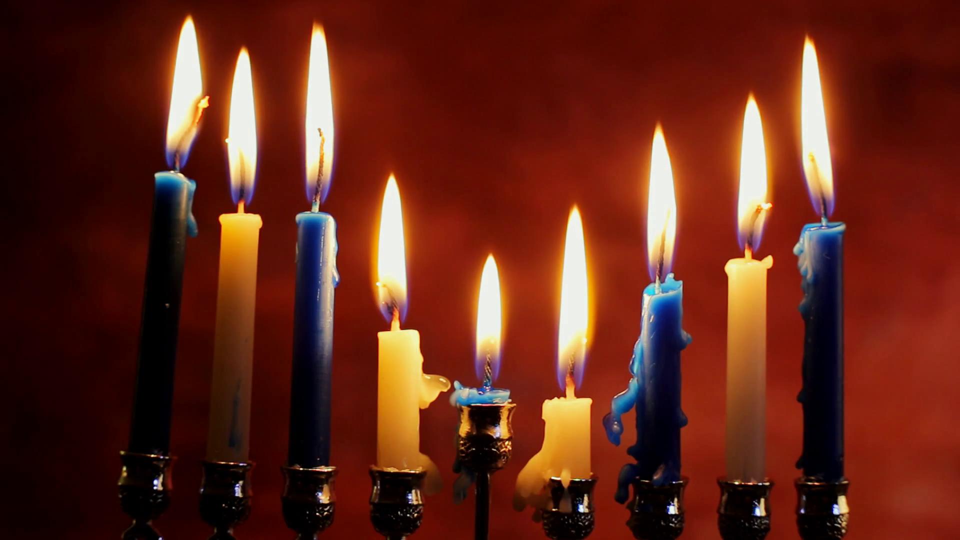 Jewish holiday hannukah symbols Lighting Hanukkah Candles Hanukkah  celebration judaism menorah tradition Stock Video Footage - VideoBlocks - Jewish Holiday HD PNG