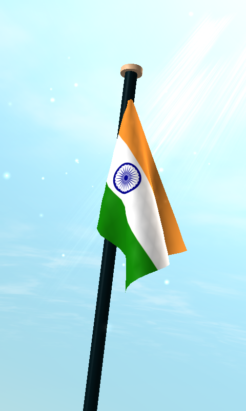 India Flag 3D Free Wallpaper- screenshot - Jhanda PNG