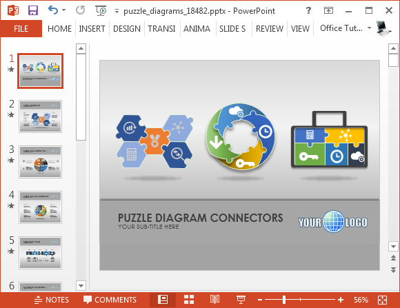 Jigsaw PNG For Powerpoint - 47092