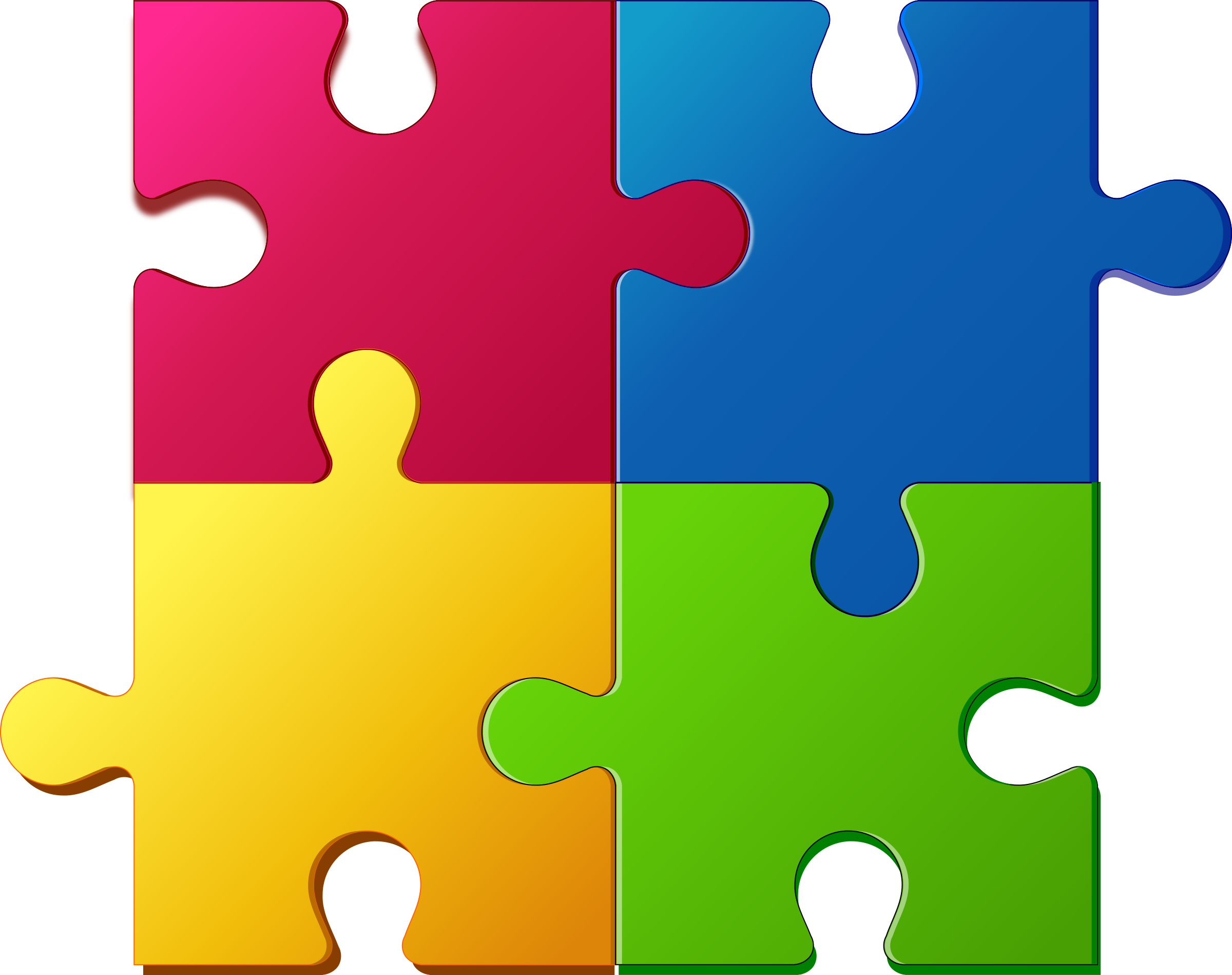 Puzzle together. Jigsaw png for powerpoint