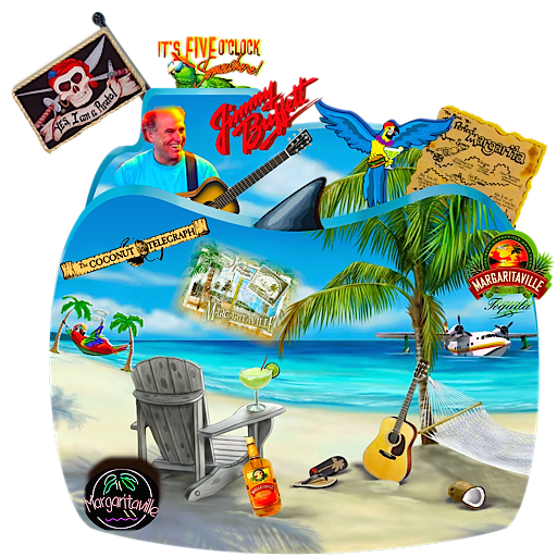 Jimmy Buffett Music Folder by CBDave PlusPng.com  - Jimmy Buffett PNG
