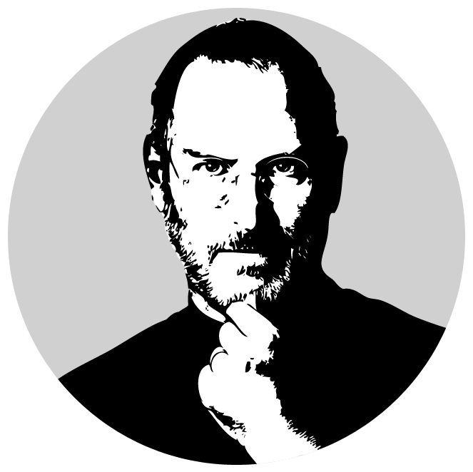 Steve Jobs PNG - Job PNG Black And White