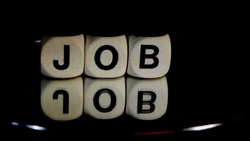 Job word rotating - HD stock video clip - Job PNG HD