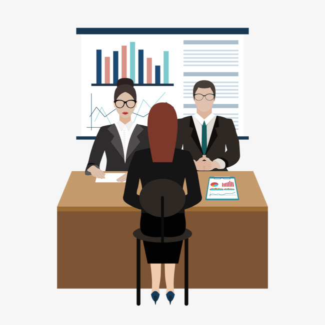 Vector Job Interview, Female, Test, Personnel PNG and Vector - Job PNG HD