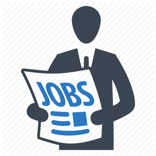 businessman, employee, employment, job search, newspaper icon - Jobs PNG