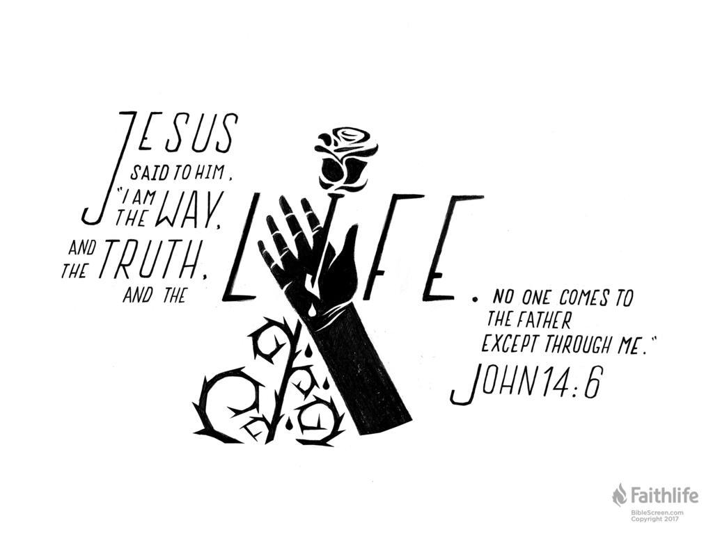 Verse of the Day: John 14:6 - John 14 6 PNG