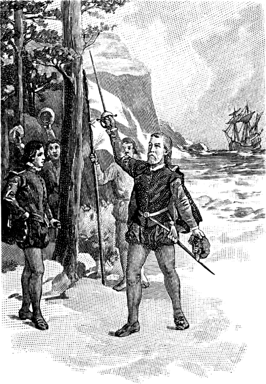 File:Cabot taking Possession for England BAH-p16.png - John Cabot PNG