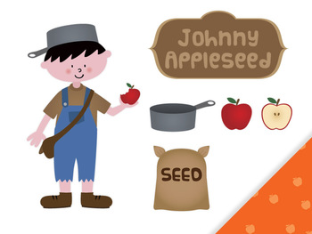 FREE Johnny Appleseed clip art - Johnny Appleseed PNG