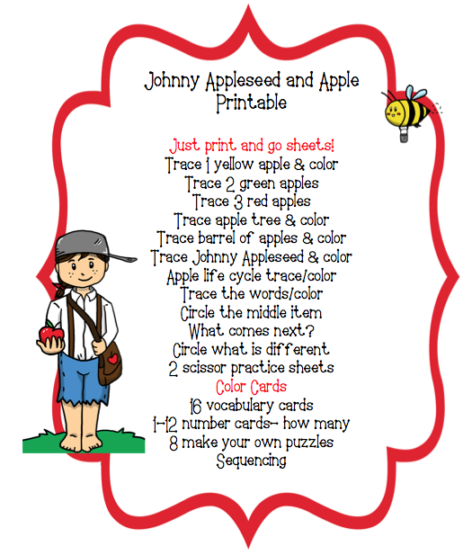 Johnny Appleseed Printable - Johnny Appleseed PNG