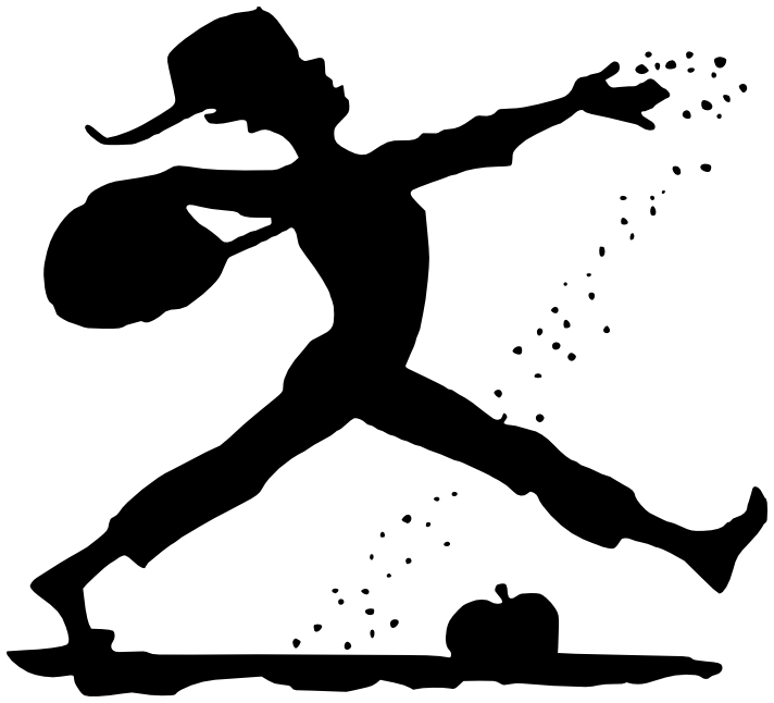 Johnny Appleseed silhouette -  /American_History/Historic_figures/Johnny_Appleseed/Johnny_Appleseed_silhouette. png.html - Johnny Appleseed PNG
