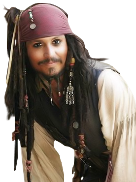Johnny-Depp-Pirate.png - Johnny Depp PNG