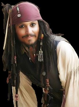 Johnny-Depp-Pirate.png - Johnny Depp PNG