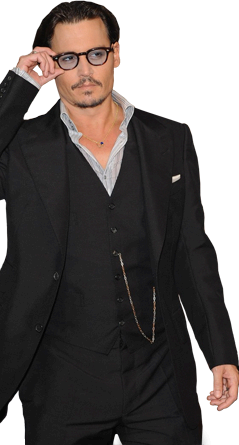 Mini Photo frame - Johnny Depp - Johnny Depp PNG