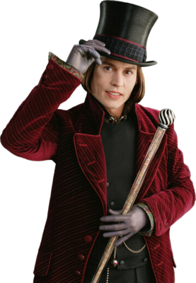 PNG Willy Wonka (Johnny Depp) - Johnny Depp PNG