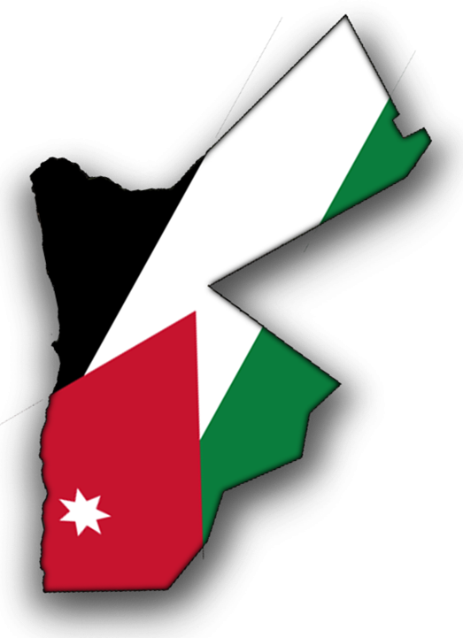 Flag Map of Jordan - Jordan Map PNG