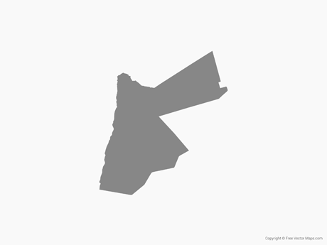 Free Vector Map of Jordan - Single Color - Jordan Map PNG