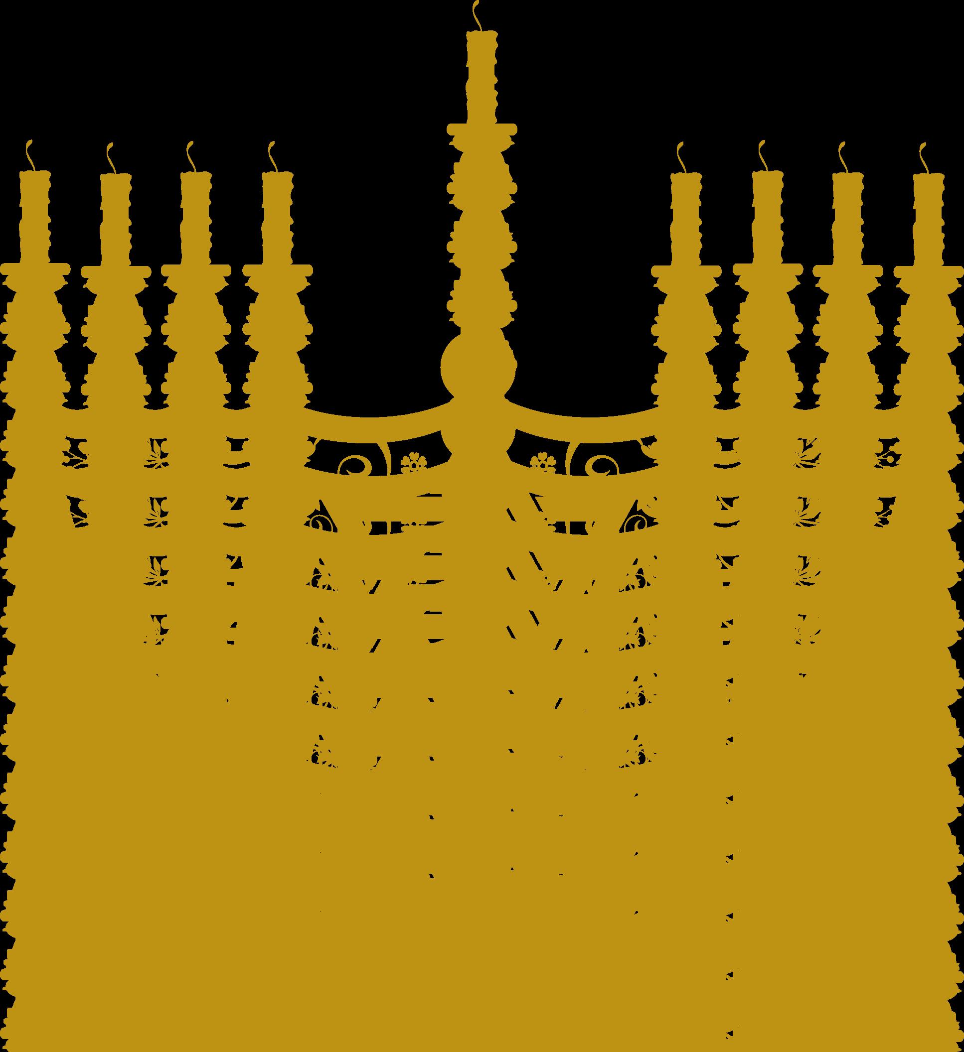 Jewish Menorah Cliparts #2515162 - Judaism HD PNG