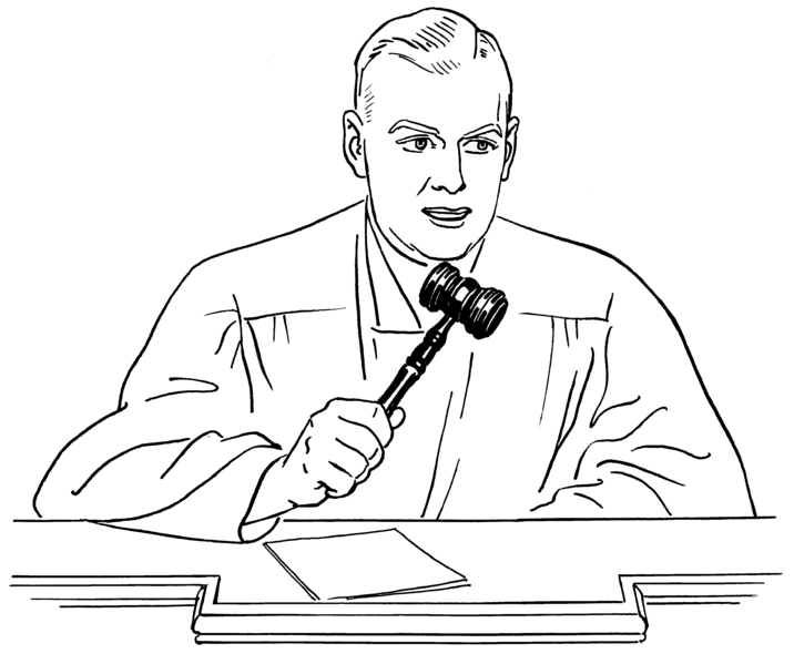 Judge PNG Black And White - 51139