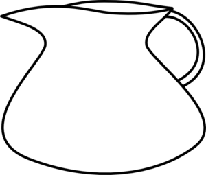 Blank Water Pitcher Clip Art - Jug PNG Black And White