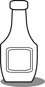 Ketchup Bottle Black And White Clip Art - Jug PNG Black And White