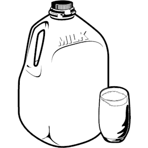 Milk - Jug PNG Black And White