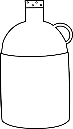 Jug PNG Black And White - 68157