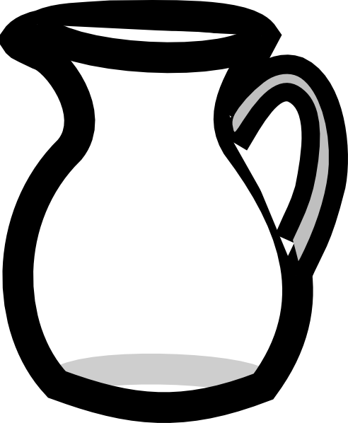 PNG: small · medium · large - Jug PNG Black And White