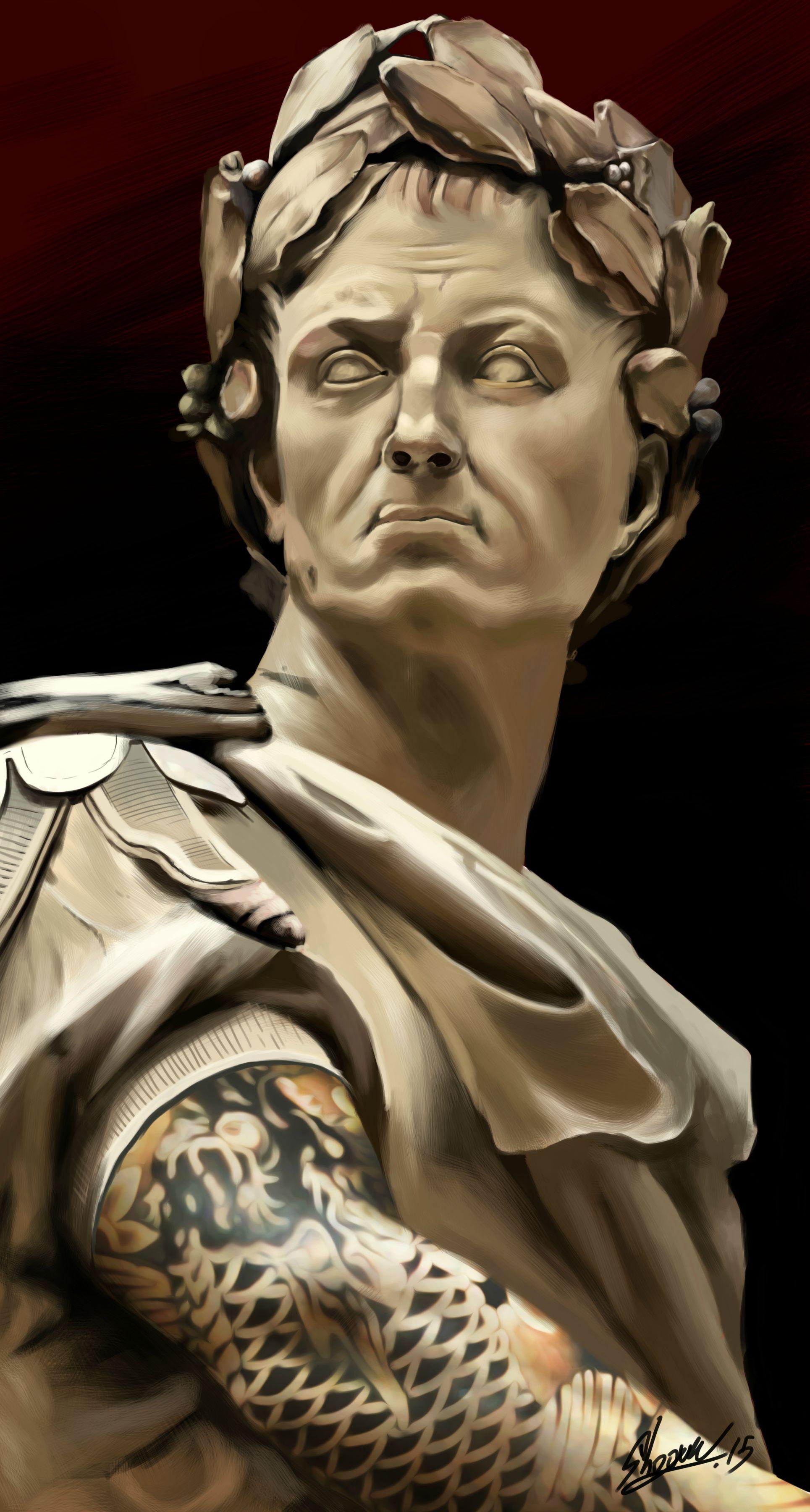 ArtworkJulius Caesar with Tattoou0027s (HD) Digital painting PlusPng.com  - Julius Caesar PNG HD