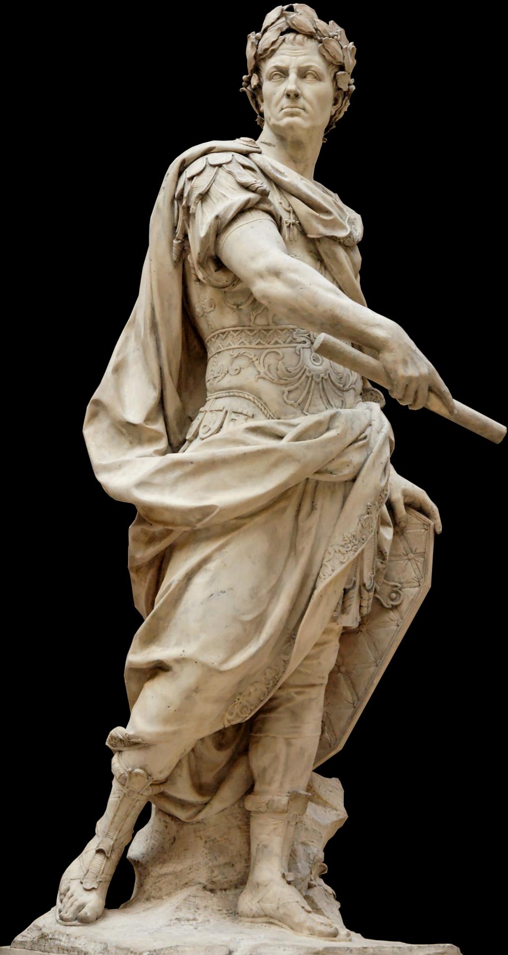 Sculpture of Julius Caesar by 17th century French sculptor Nicolas Coustou. - Julius Caesar PNG HD