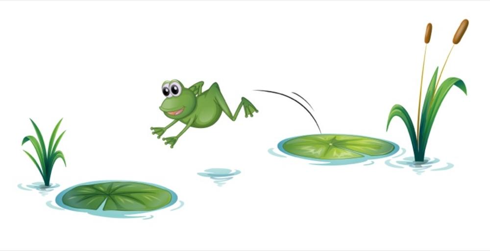 bigstock-Illustration-of-a-jumping-frog-40668136 - Hopping Frog - Jumping Frog PNG HD
