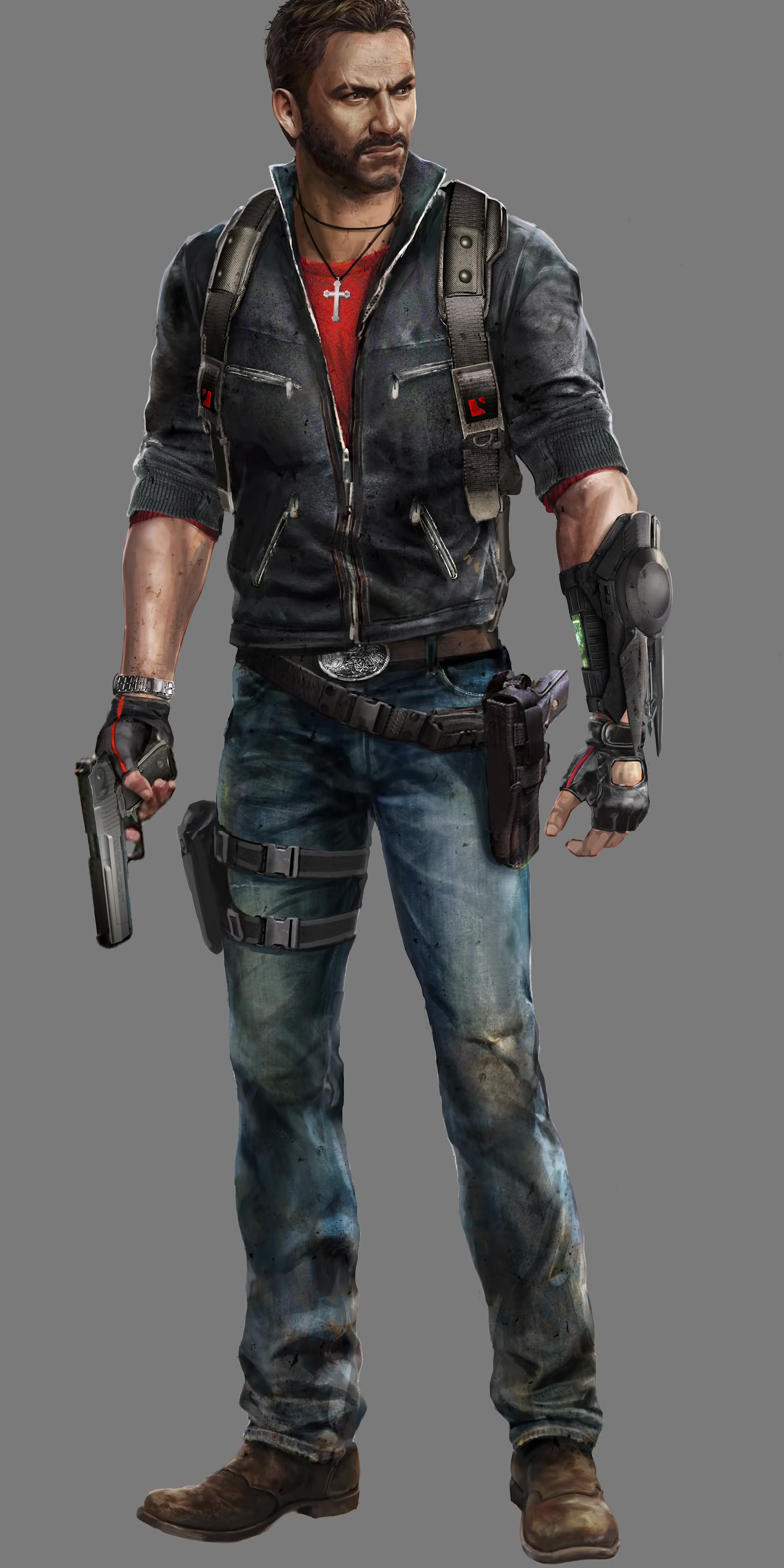JC3 Rico early design proposal (2).png - Just Cause PNG