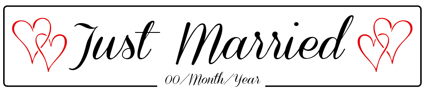 Just Married Banner PNG - 68298