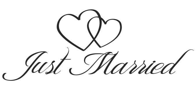 just married - Just Married Banner PNG