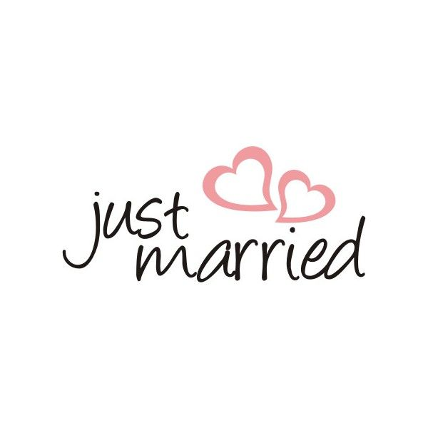 Just Married sticker Just Married Car Vinyl by CustomDecalsOnline - Just Married Banner PNG