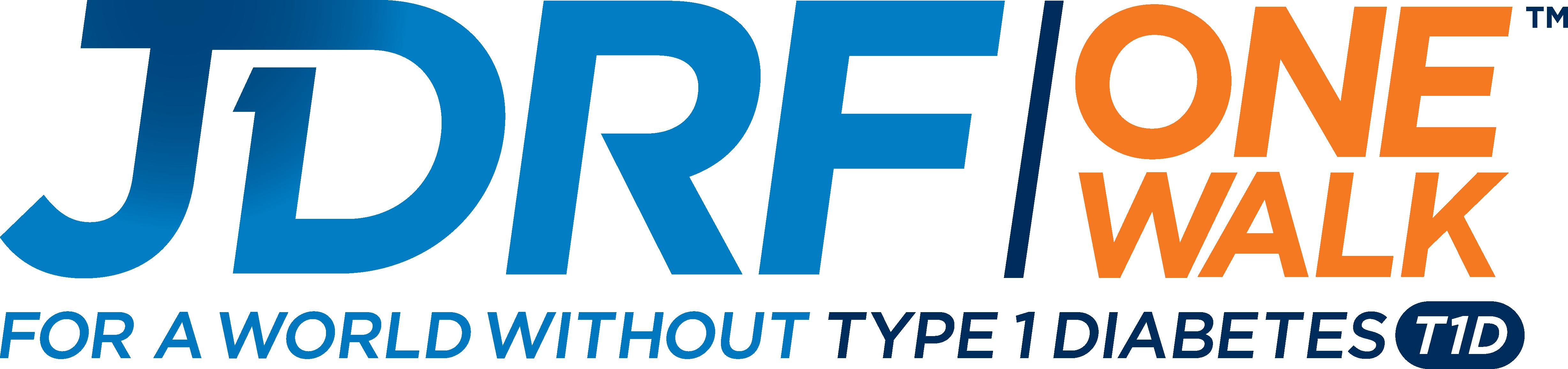 JDRF-One-Walk-3-color-PNG-logo-CMYK - Juvenile Diabetes PNG