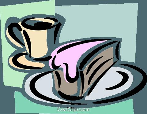 Dessert mit Kaffee Vektor Clipart Bild - Kaffee Und Kuchen PNG