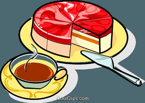 Russische Quarkknödel Kuchen mit Kaffee Vektor Clipart Bild - Kaffee Und Kuchen PNG