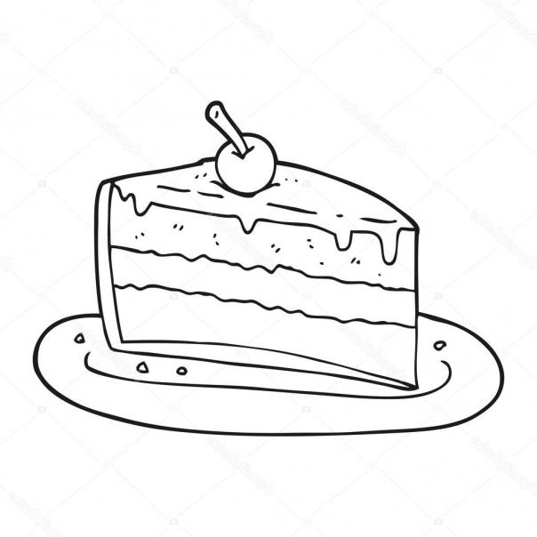 cool kuchen clipart schwarz wei und weie cartoon stck kuchen u stockvektor  with clipart schwarz wei. - Kaffee Und Kuchen PNG Schwarz Weiss