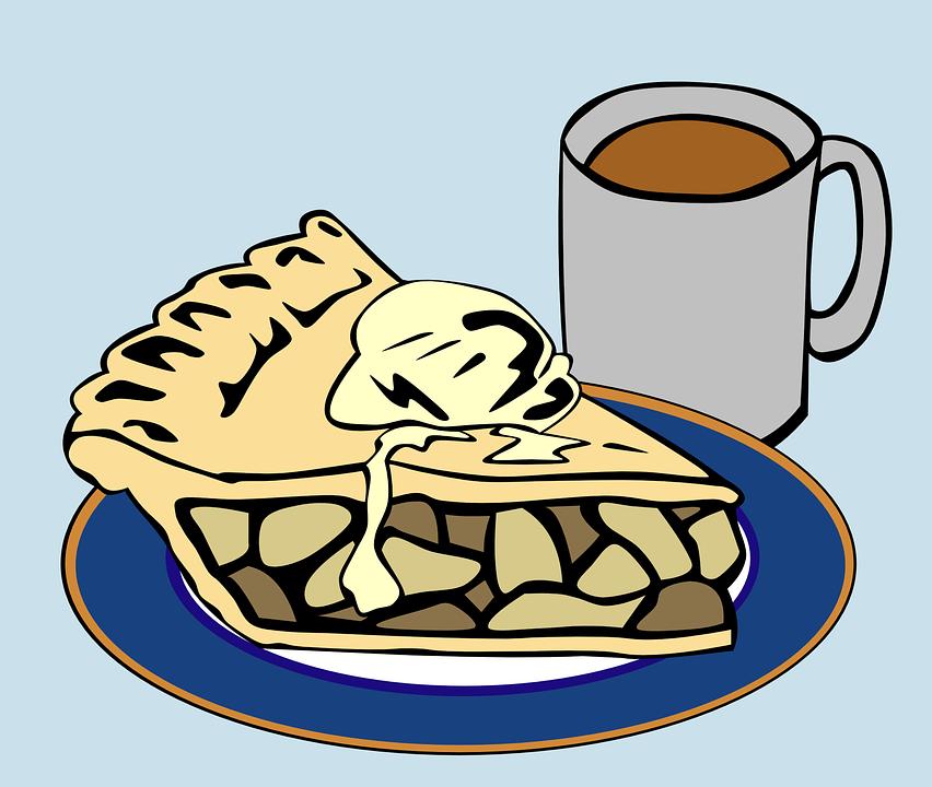 Dessert, Kuchen, Kaffee, Ein La-Modus, Scheibe, Eis - Kaffee Und Kuchen PNG Schwarz Weiss