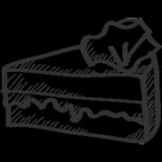 Kuchen und Süsses - Kaffee Und Kuchen PNG Schwarz Weiss