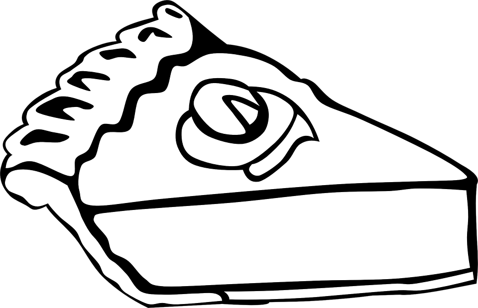 Kuchen, Weiß, Schwarz, Kruste, Stück, Scheibe, Lecker - Kaffee Und Kuchen PNG Schwarz Weiss