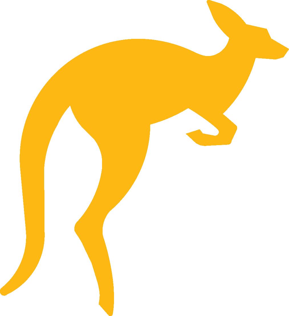 Kangaroo Logo Hopping Kangaroo Logo . - Kangaroo PNG