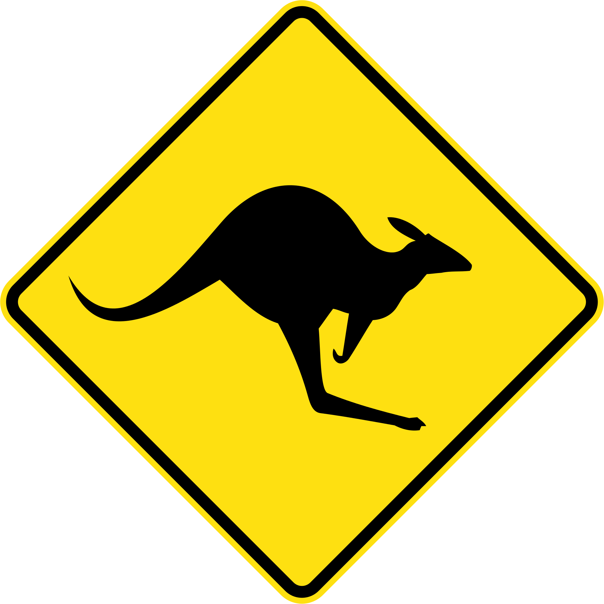 New SVG image - Kangaroo PNG