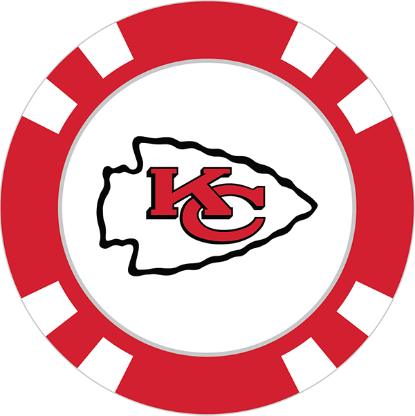 Kansas City Chiefs Poker Chip Ball Marker - Kansas City Chiefs PNG