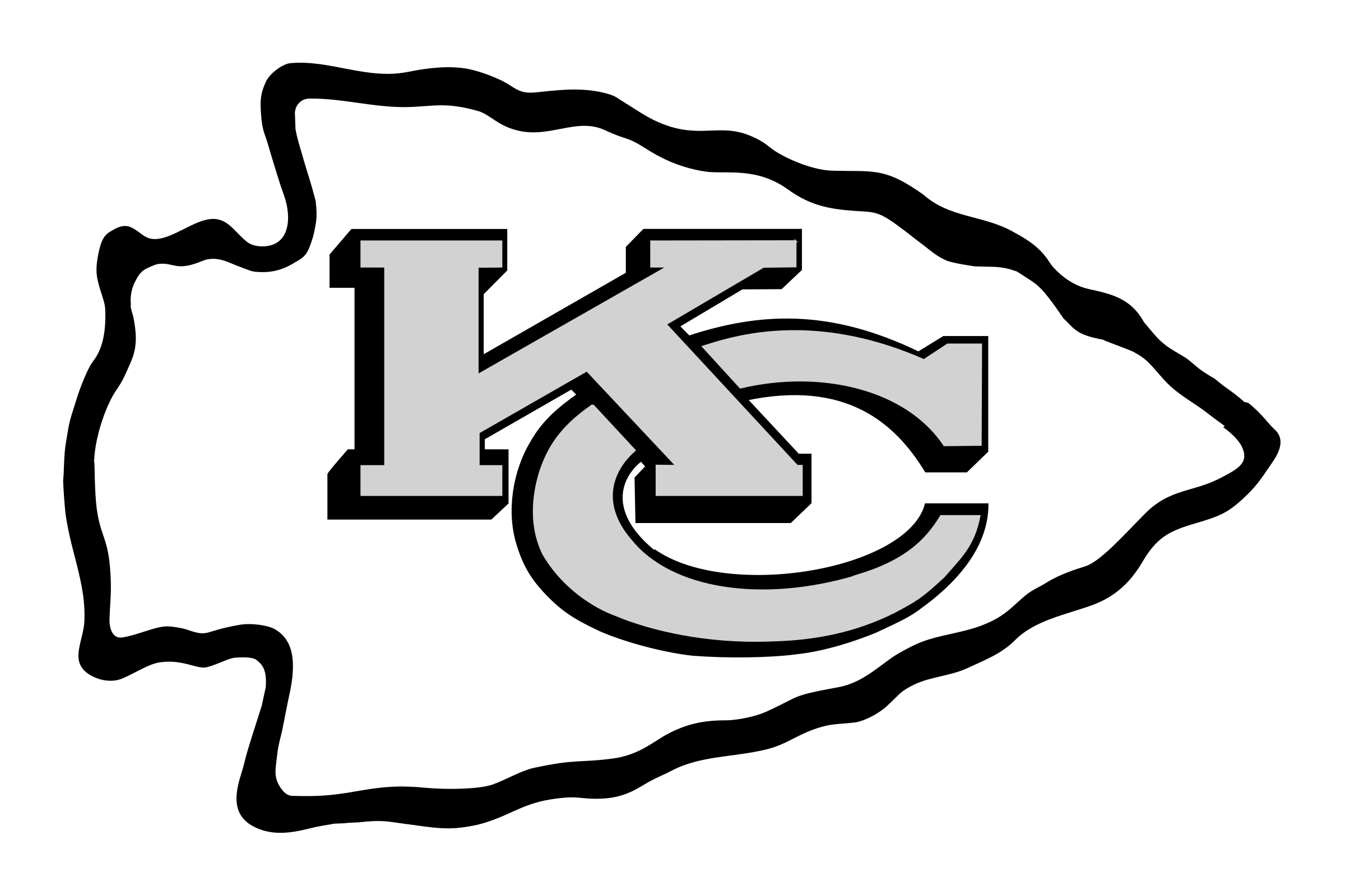 Kansas City Chiefs logo black and white - Kansas City Chiefs Vector PNG