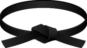 Karate Black Belt PNG - 151754