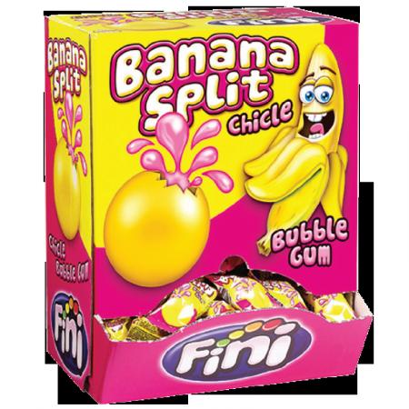 Banana Split Fini 200pz Bubble Gum - Kaugummiblase PNG