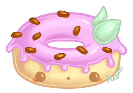 Cute Donut by Metterschlingel PlusPng.com  - Kawaii Donut PNG