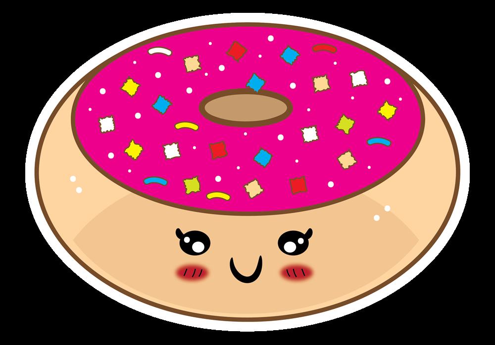 Cute Donut Clipart - Kawaii Donut PNG
