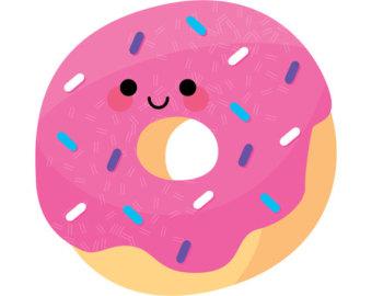 Cute donut clipart clipart kid - Kawaii Donut PNG